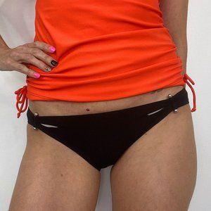 Robin Piccone Black Full Coverage Bikini Bottoms